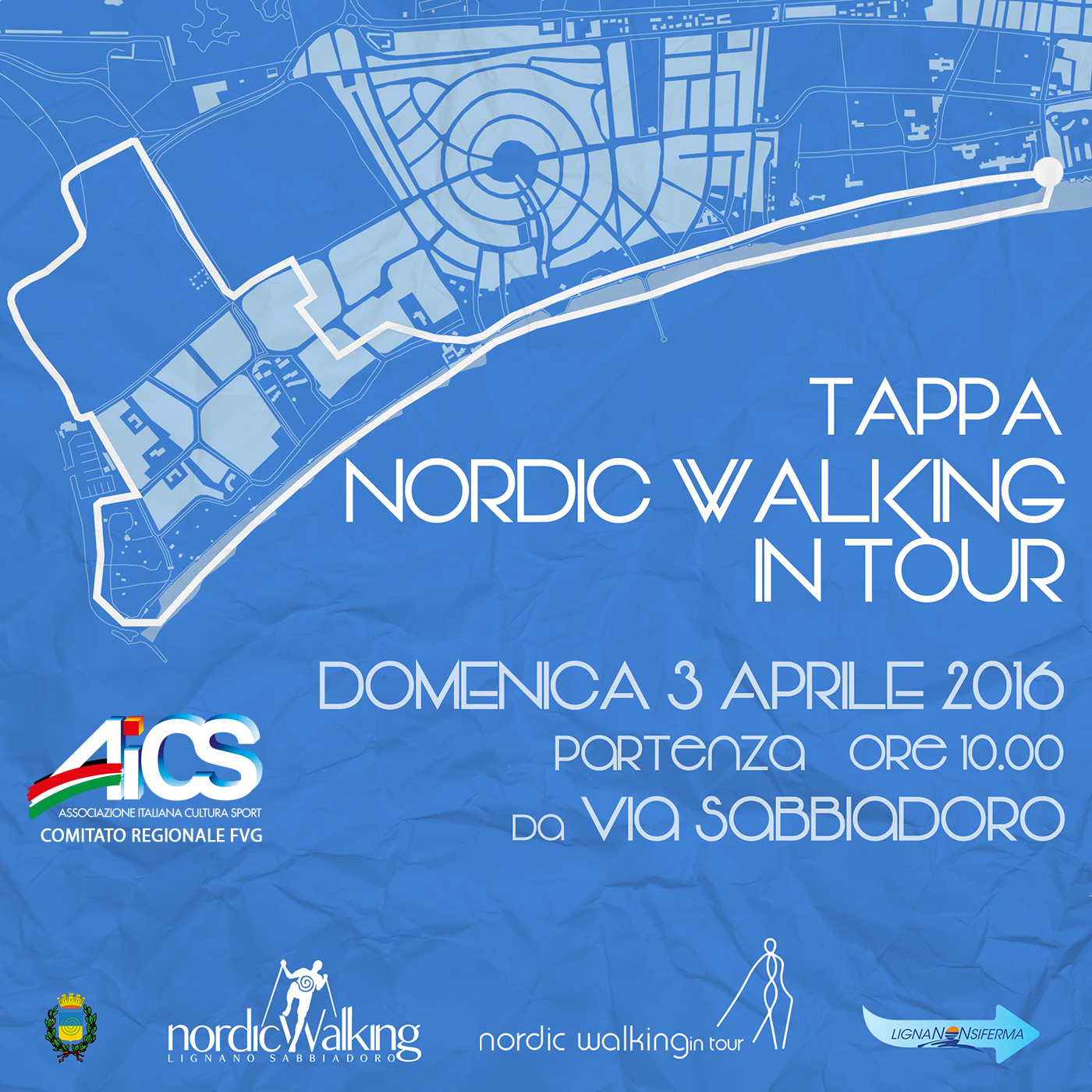 Nordic Walking in tour AICS 2016