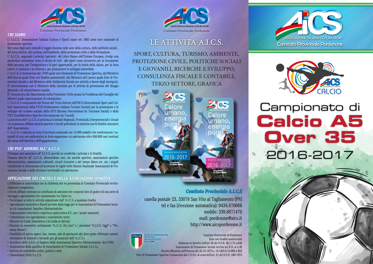 Brochure Calcio A5 Over 35 2016-17 AICS-1